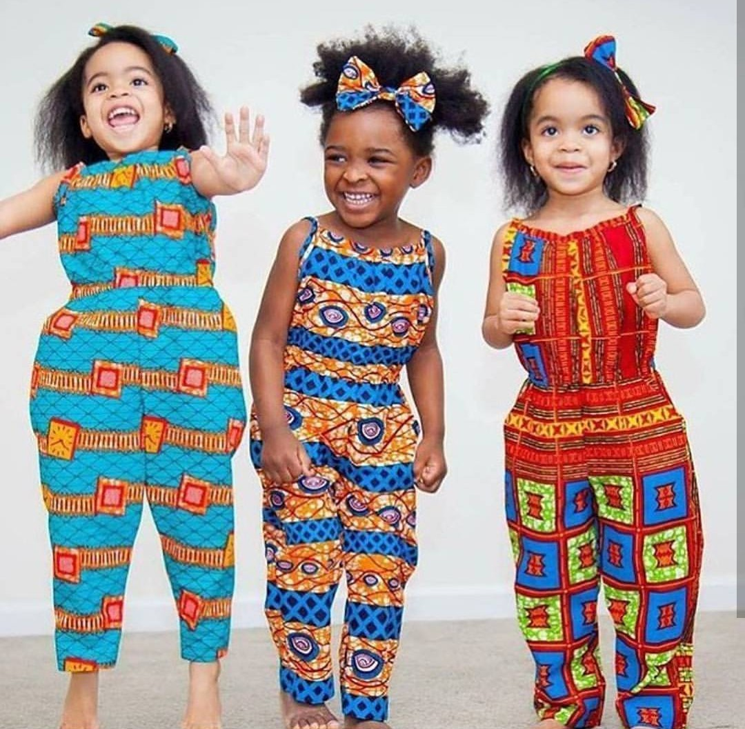 Beautiful Ankara jumpsuits styles for kids