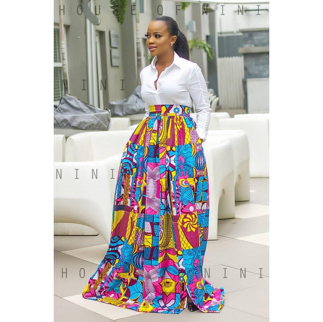 Ankara maxi skirt style