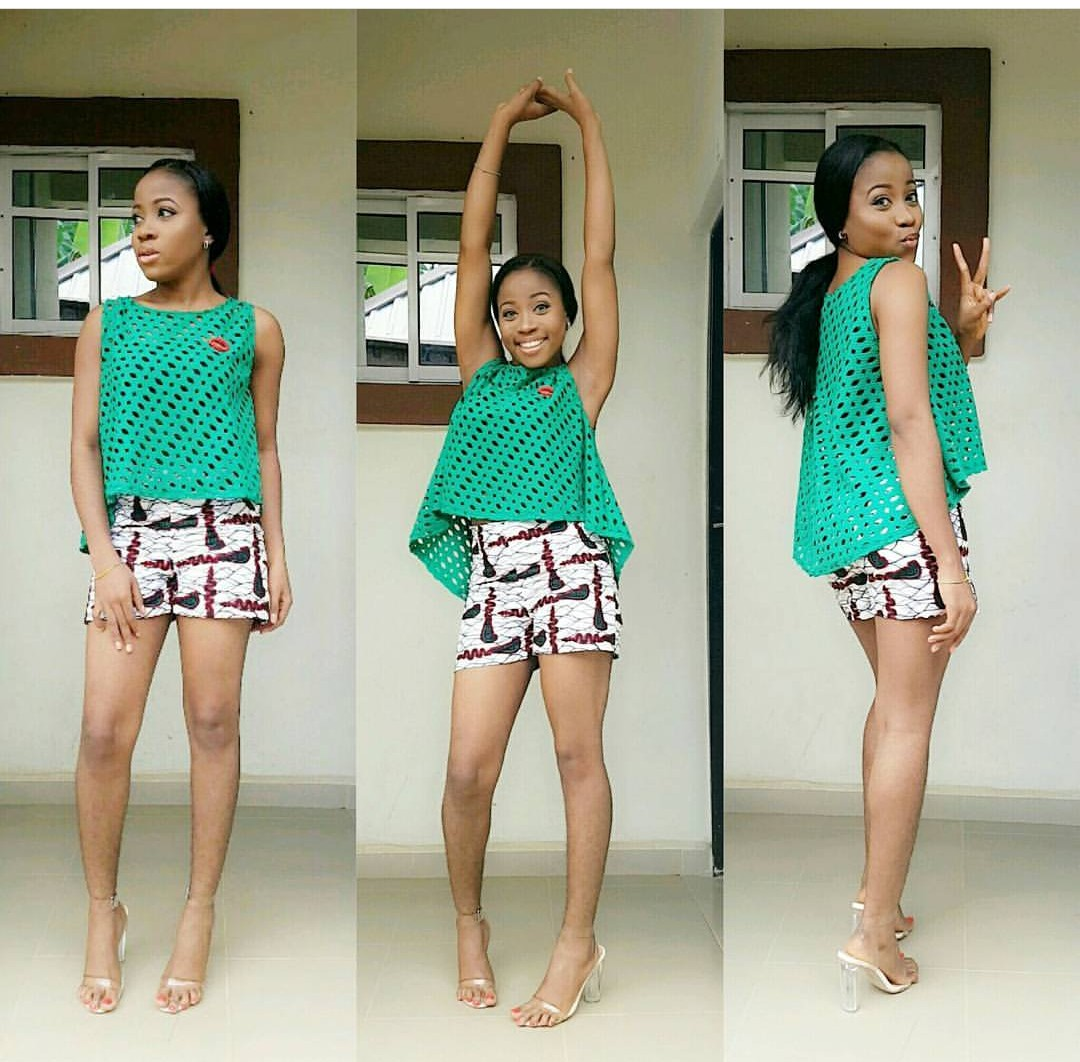 Bum shorts/Short Ankara style