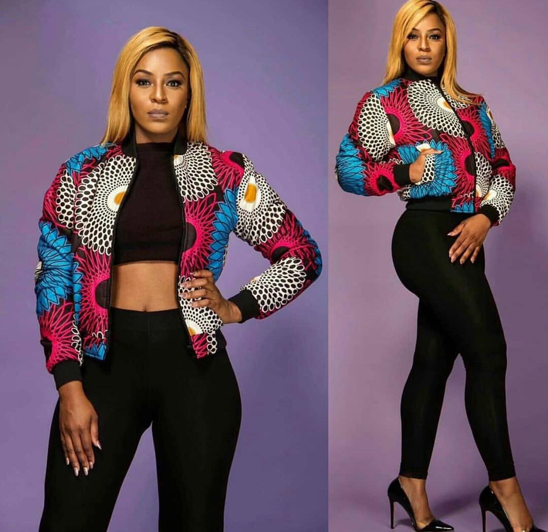 ankara fashion styles picture (Bomber jackets)