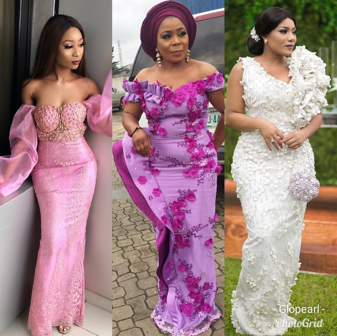 Lace Gown Styles For Owambe