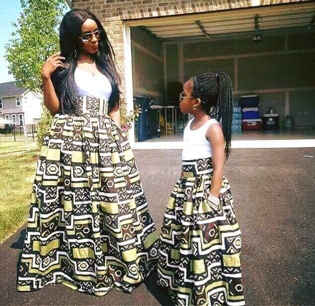 Cute Mummy-Daughter Ankara Styles