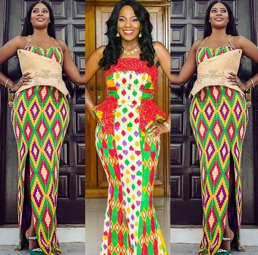 Kente styles For Ghana Bride